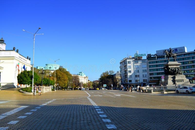 Sofia Parliament-vierkant, Bulgarije royalty-vrije stock fotografie