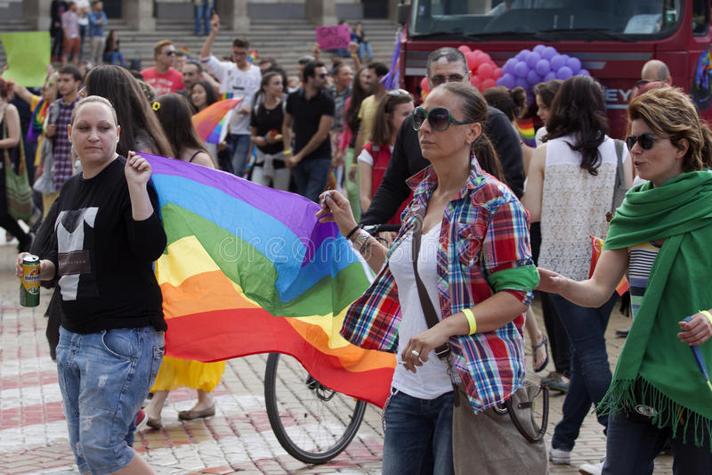 Sofia Pride royaltyfria foton