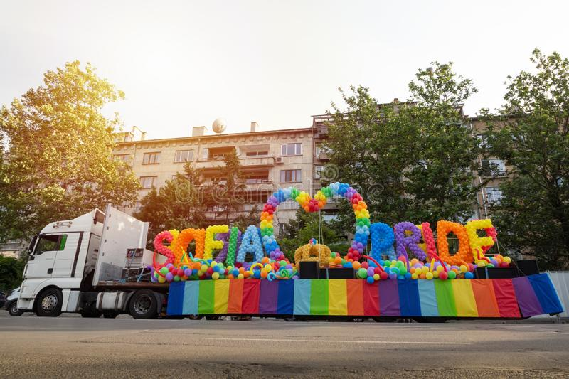 Sofia Pride truck stock photos