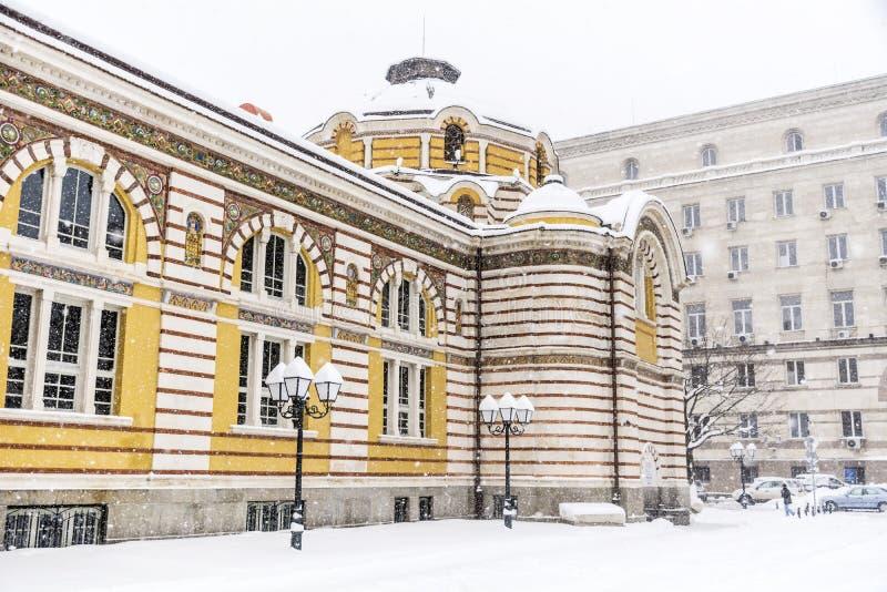 Download Sofia Public Bathhouse  In Sofia, Bulgaria In The Winter Stock Photo - Image: 83721120