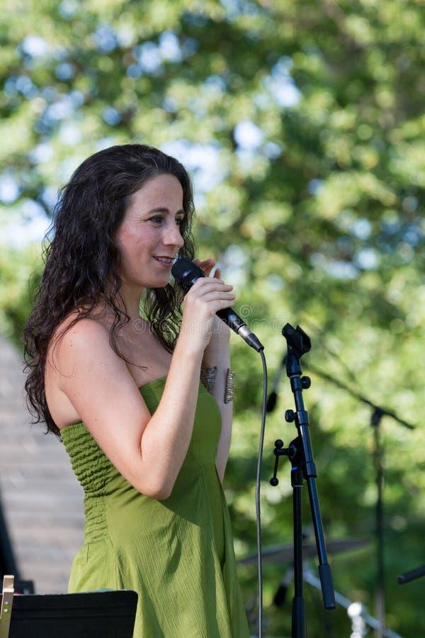 Sofia Riberio bei SummerStage in NYC's-Central Park 2017 lizenzfreies stockfoto