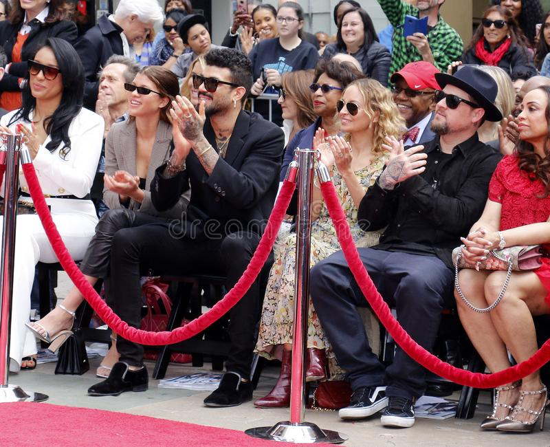 Sofia Richie, Miles Richie, Nicole Richie, Lisa Parigi y Benji Madden imagenes de archivo