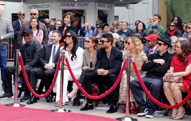 Sofia Richie, Miles Richie, Nicole Richie, Samuel L Jackson, Lisa Parigi y Benji Madden imagen de archivo