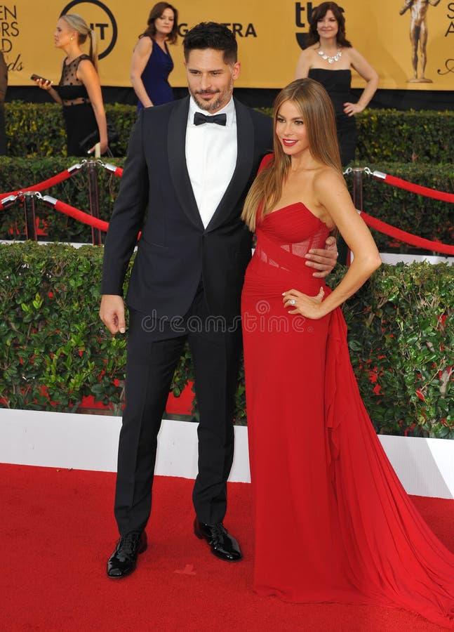 Sofia Vergara & Joe Manganiello royalty free stock photo