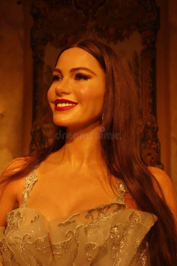 Sofia Vergara Wax Figure lizenzfreies stockbild
