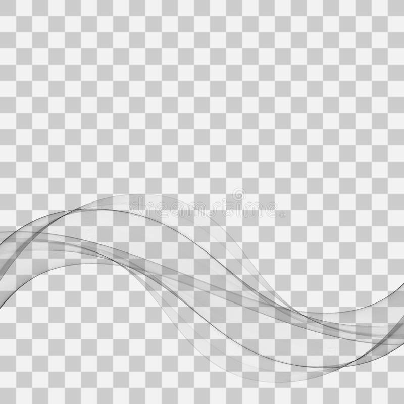 Soft abstract swoosh wave lines border layout grey elegant modern certificate background. Vector illustration royalty free illustration