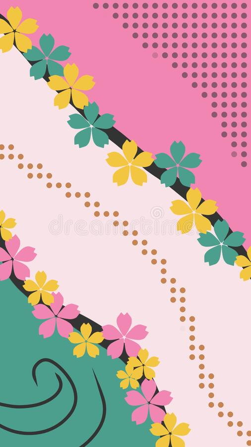 Free Soft Aesthetic Abstract Background With Flowers Illustration Stock Photos - 217750473