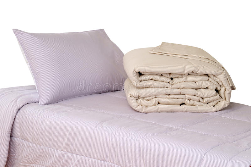 Bed. Isolated royalty free stock images