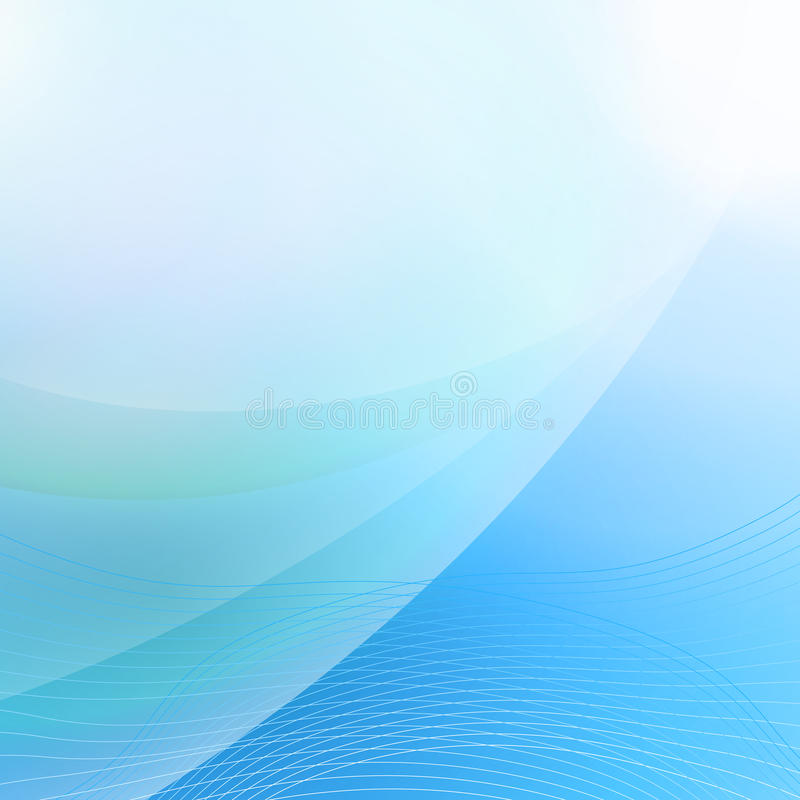 Soft bending line blue abstract background royalty free illustration