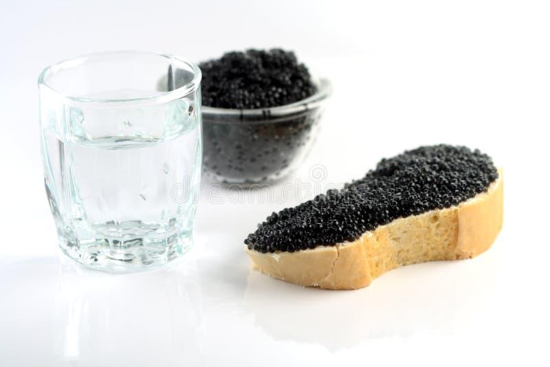 Soft black caviar stock images