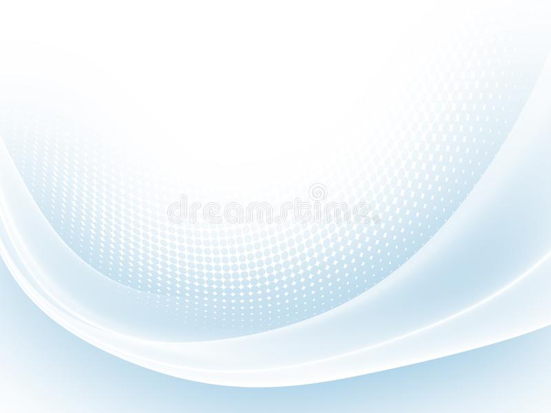 Soft blue abstract business graphic wave background stock illustration