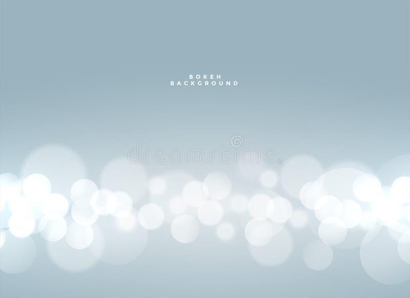soft blue bokeh defocused light effect background stock illustration