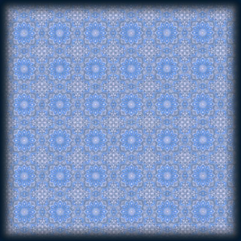 soft blue floral geometric pattern stock image