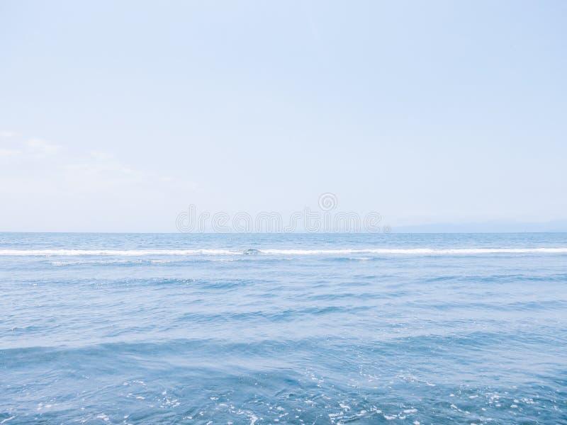 Soft Blue Sea Horizon stock photos