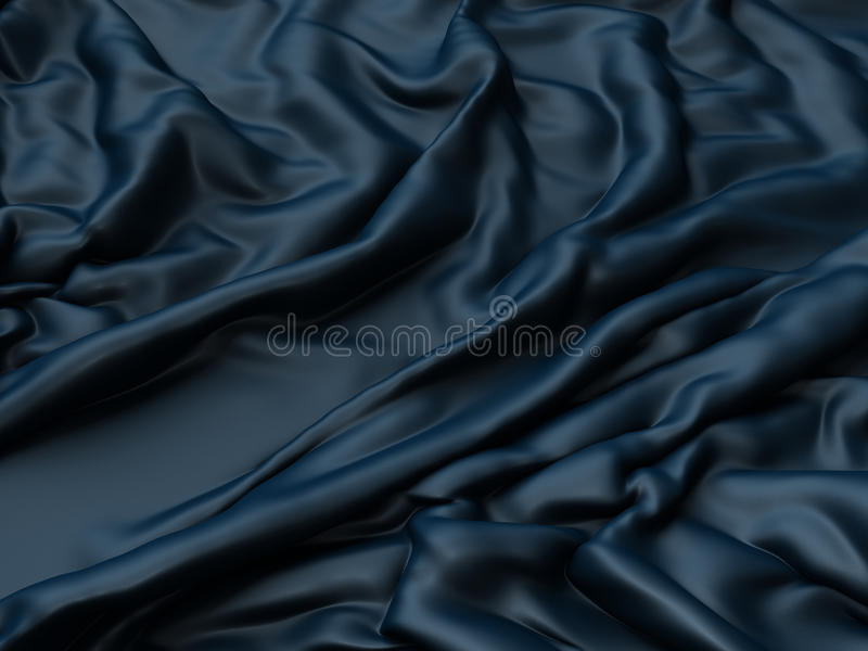Soft blue shiny metallic cloth folds background vector illustration