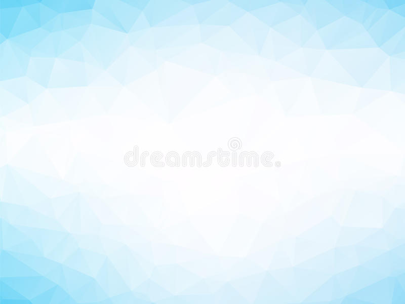 Soft blue triangles background vector illustration