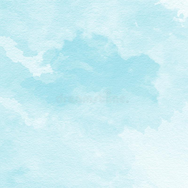 Soft Blue Watercolor Texture Background, Hand Painted ...