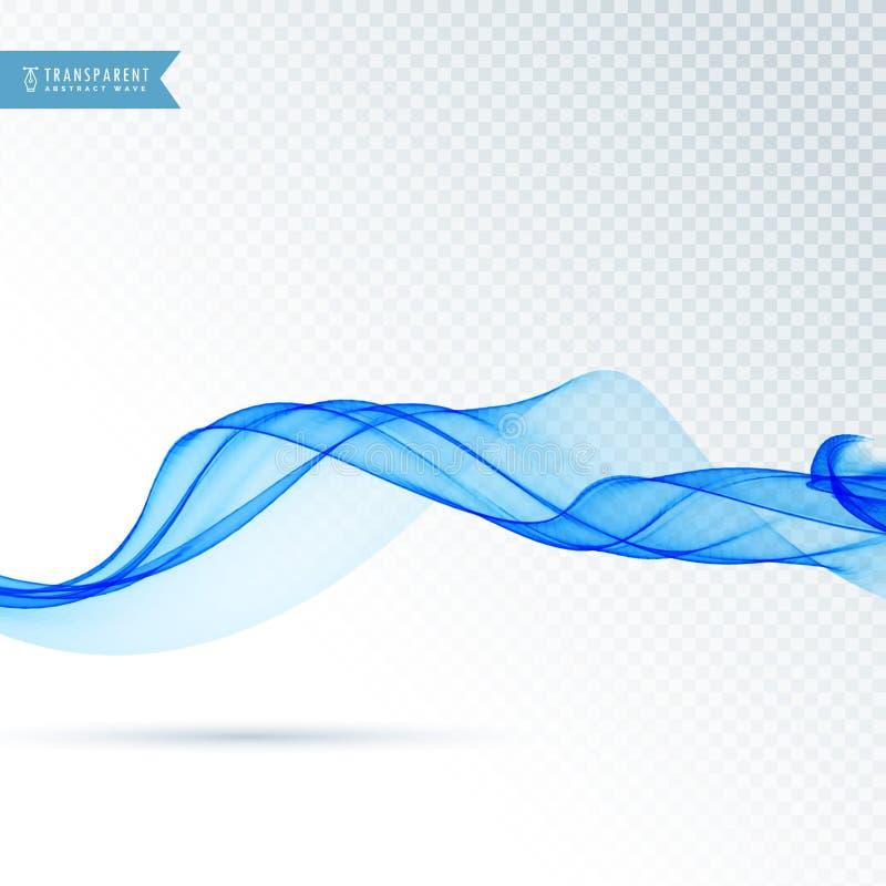 Soft blue wave vector background stock illustration