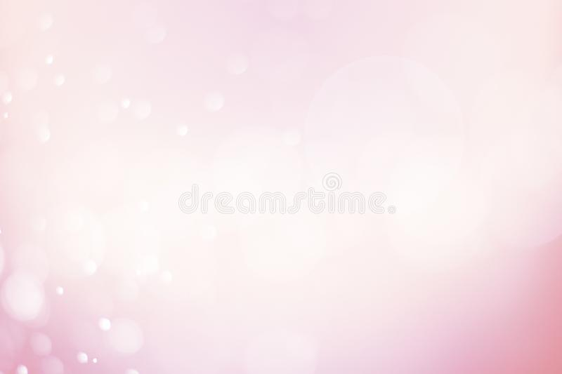 Soft blur abstract pink bokeh and Christmas background, gradient. Celebration banner royalty free stock photography