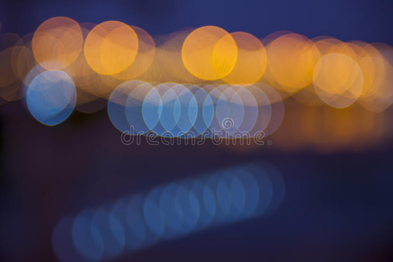 Soft blurred bokeh light of bridge background stock photo