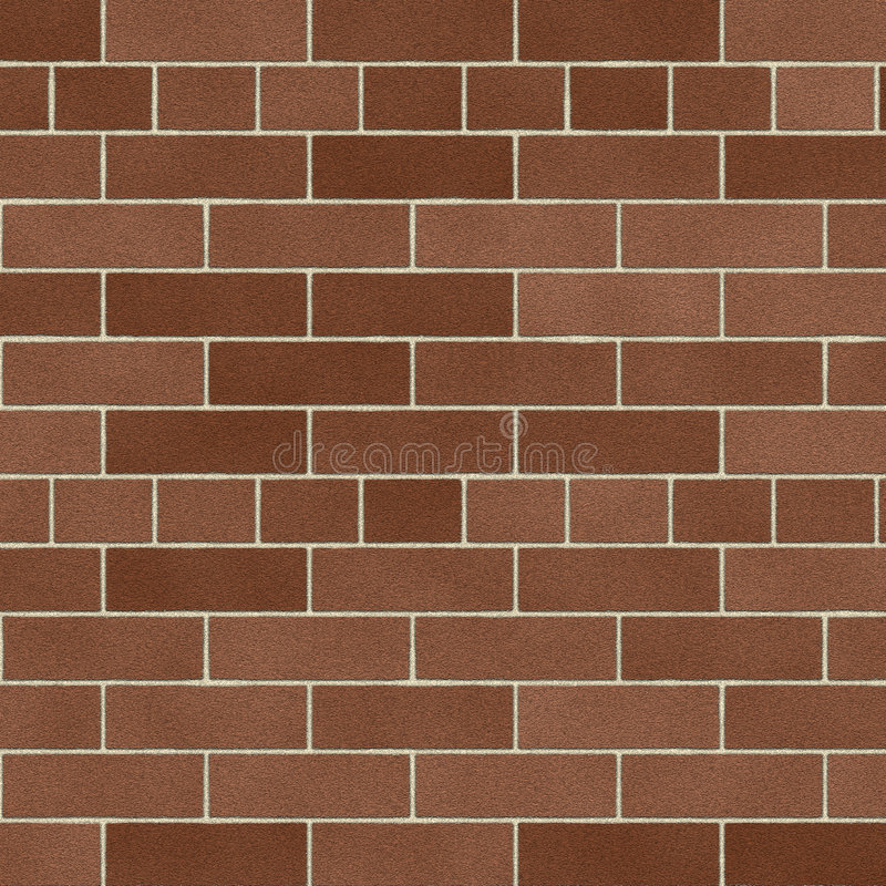 Soft Brown Brick Wall stock illustration