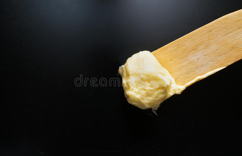 Download Soft butter on spatula stock image. Image of macro, tray - 23069767