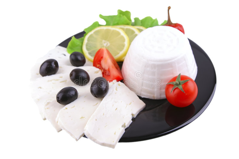 Download Soft cheese served stock image. Image of salad, ingredient - 9037879