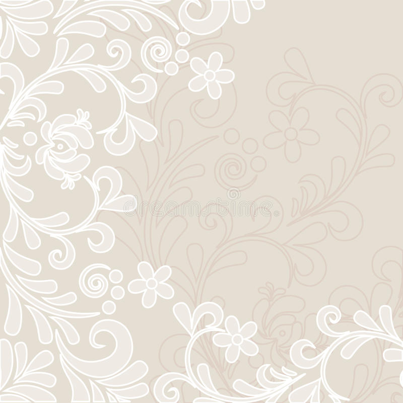 Soft classic floral background royalty free illustration