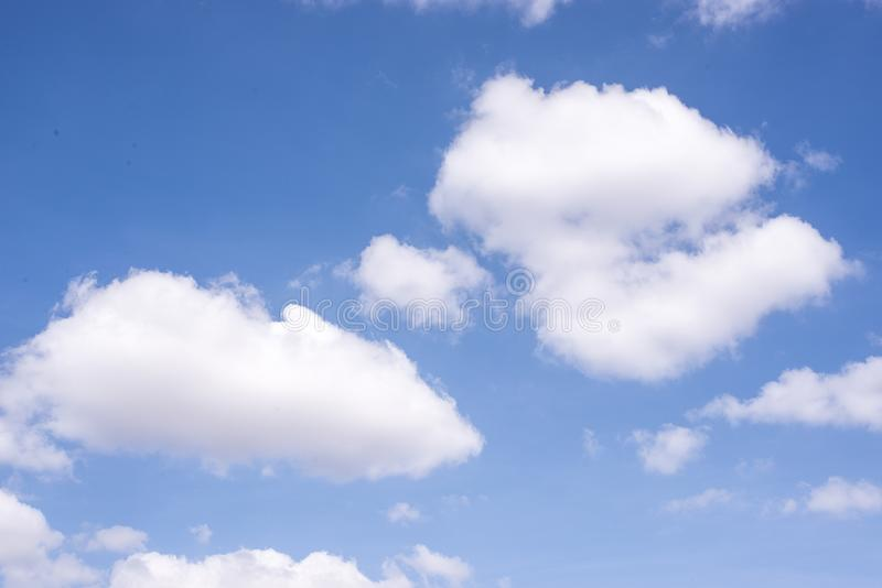 Soft cloud with a blue sky in midday. royalty free stock images