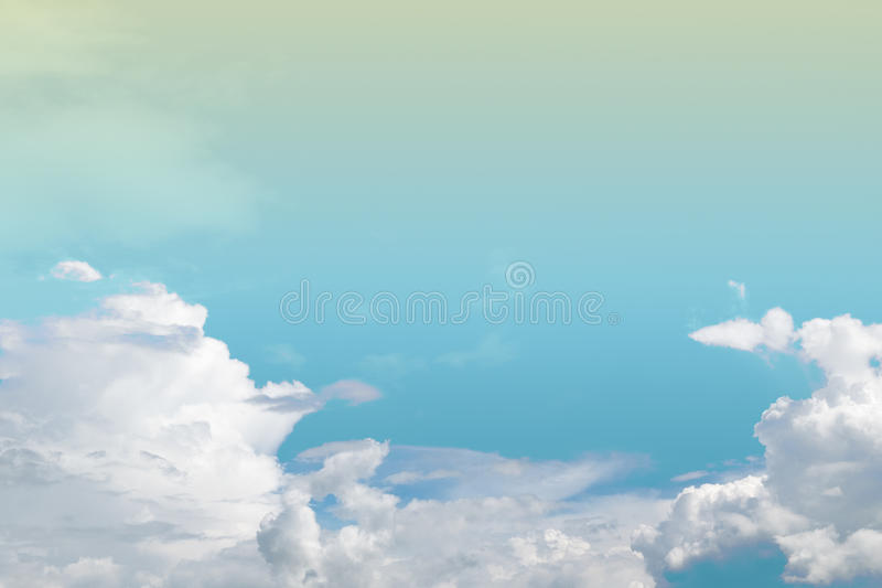 Soft cloud and sky with pastel gradient colo royalty free stock photography