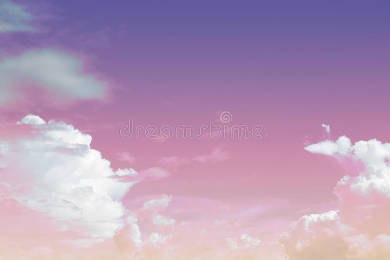 Soft cloud and sky with pastel gradient colo stock image