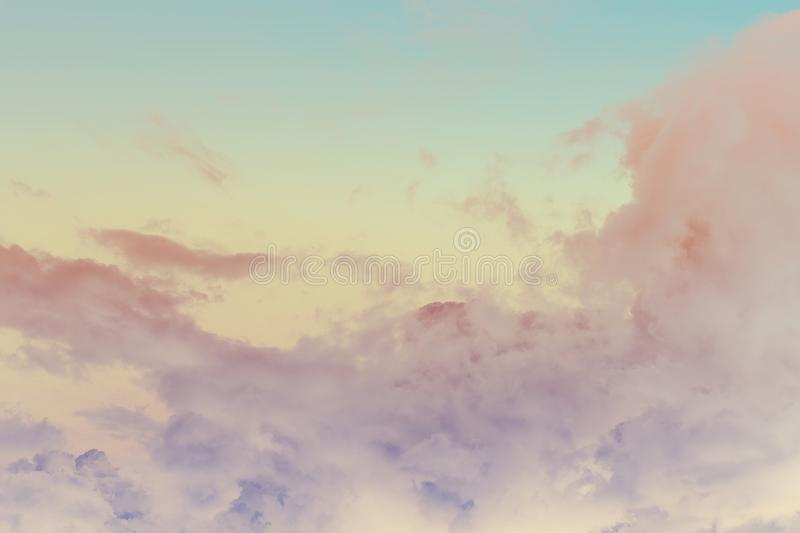Soft cloud and sky with pastel gradient colo. R for background backdrop royalty free stock images