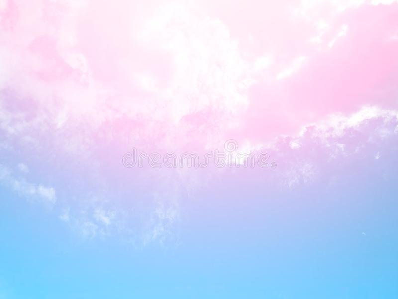 Soft clouds  In the sky with gentle pastel gradients. The sky background and soft natural clouds have pastel gradients in a variety of colors royalty free stock images