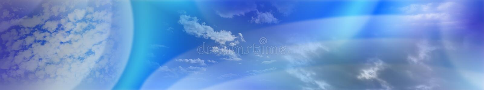 Soft Cloudy Banner, Bitmap royalty free illustration