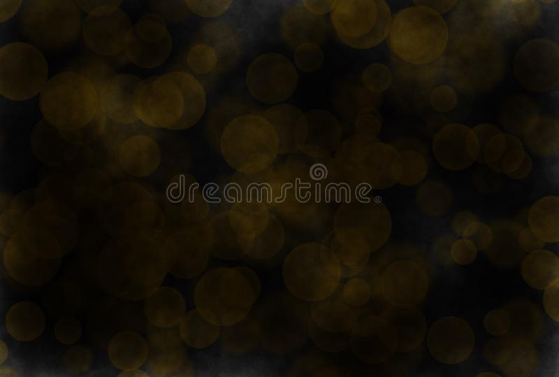 Soft-color vintage pastel abstract watercolor bokeh grunge background with colored shades of yellow and black color. Illustration stock photography