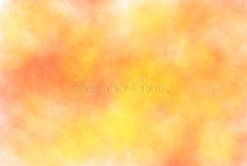 Soft-color vintage pastel abstract watercolor grunge background with colored shades of white, yellow, dark orange color stock illustration