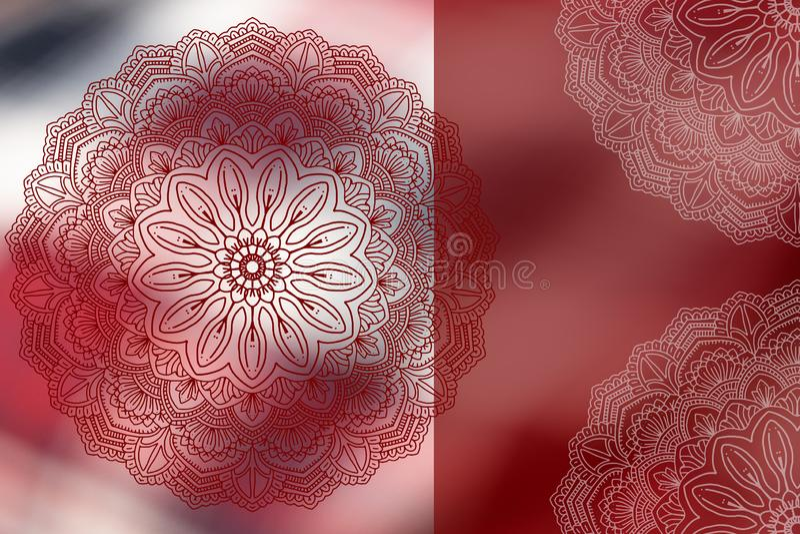 Soft colorful pattern with mandala element. Vintage decorative elements.  Islam, Arabic, Ottoman motifs stock illustration