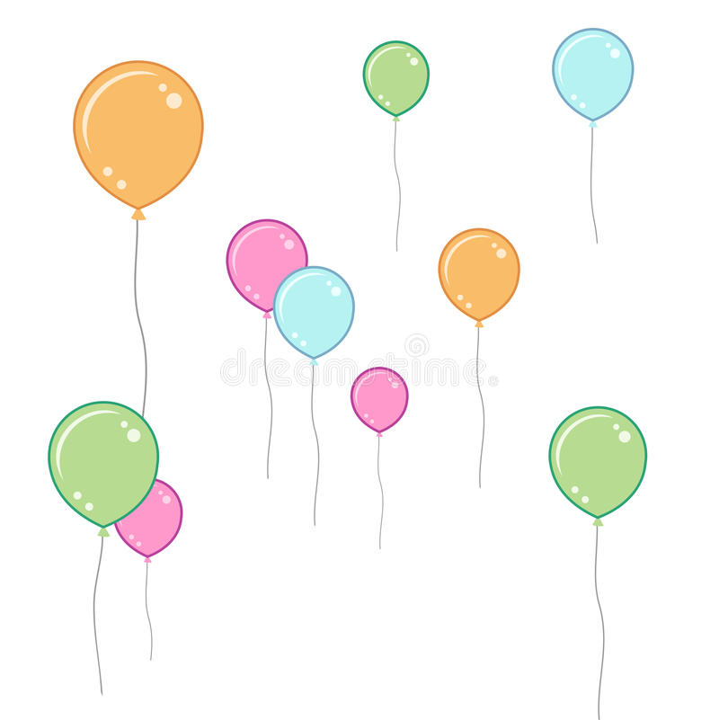 Soft coloured balloons stock photography