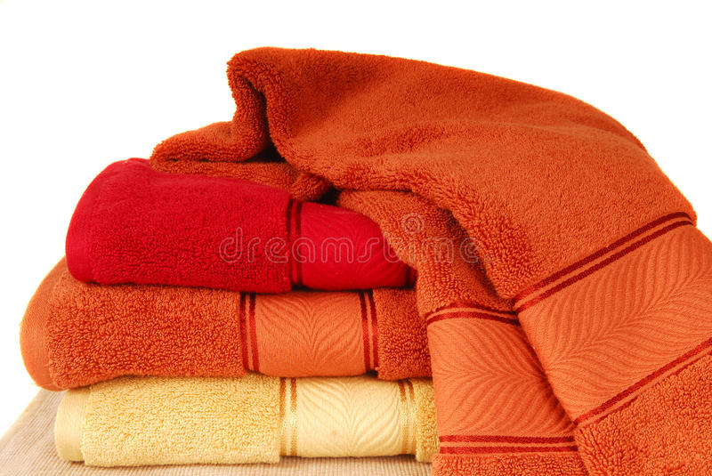 Soft cotton towels royalty free stock image
