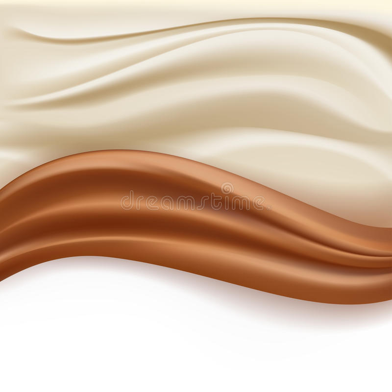 Soft creamy milky waves vector illustration