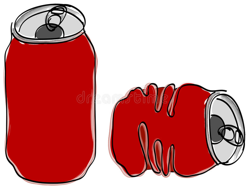 Soft-drink can vector illustration