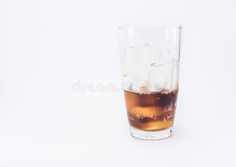 Soft drink is cool in glass royalty free stock image