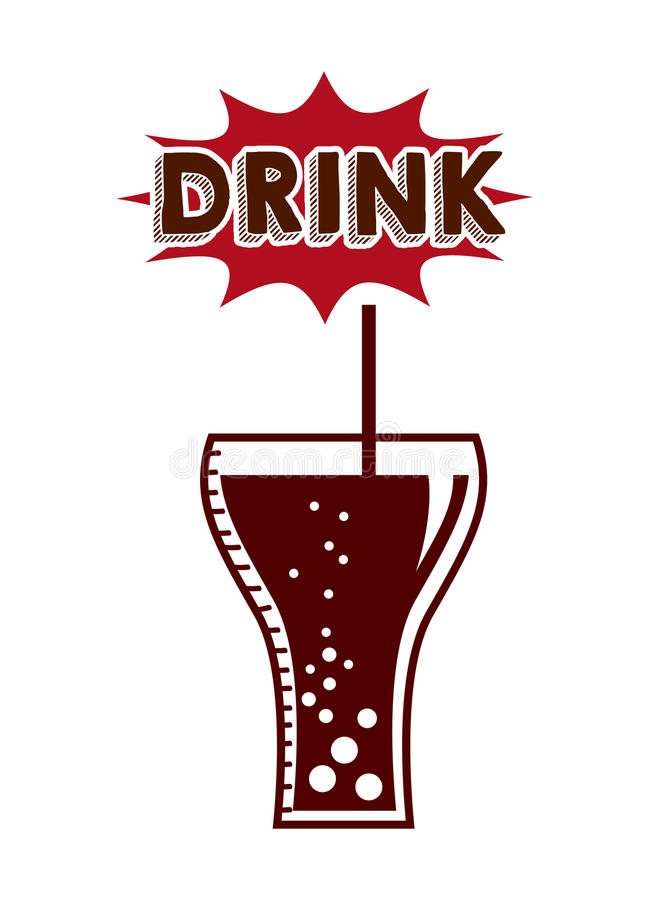 Soft drink icon. Over white background. illustration royalty free illustration