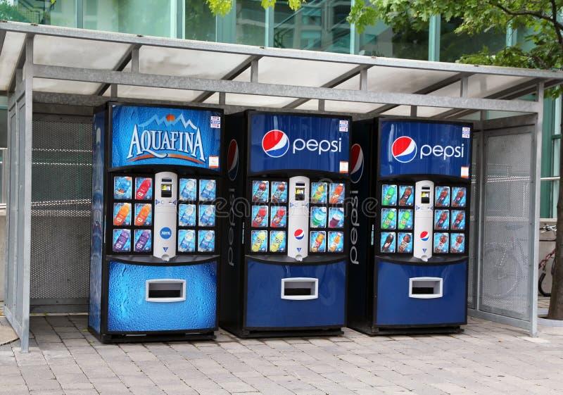Soft drink vending machine stock image
