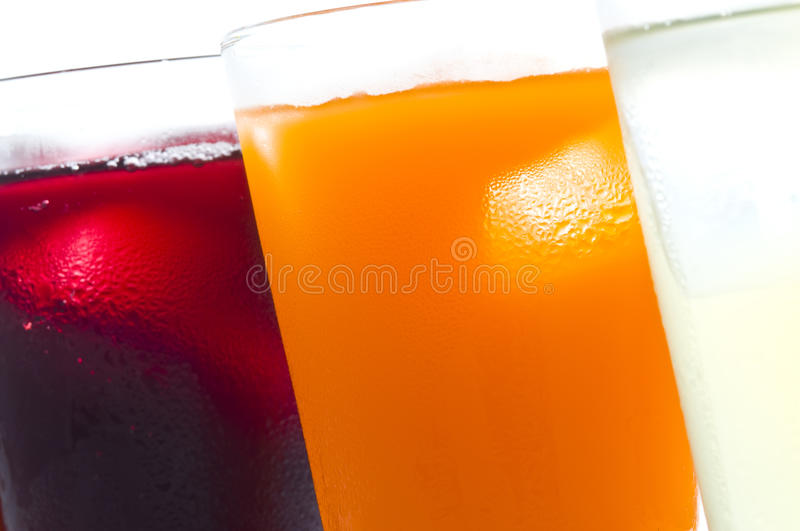 Soft drinks. Taken by the simple and soft drinks stock photography