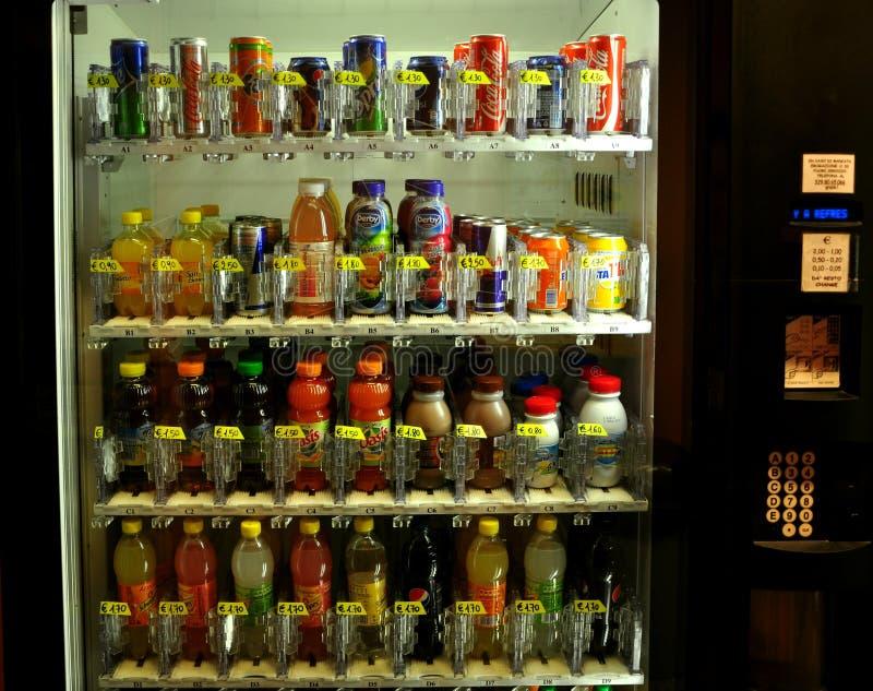 Soft drinks vending machine royalty free stock photos
