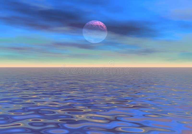 Soft evening on the sea royalty free illustration