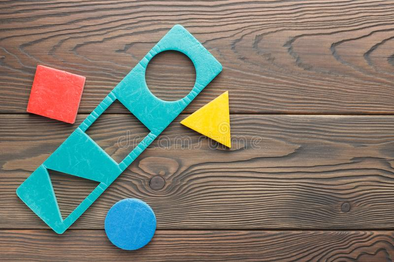 Educational shape figures for kids stock images