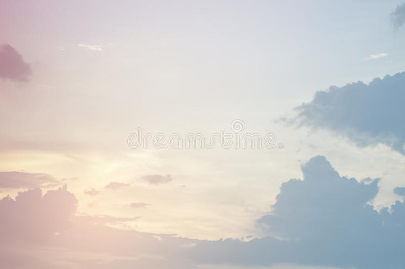 Soft focus, abstract texture pattern colorful sky and clouds naturally, bright colors with gradients of beautiful pastel shades stock image
