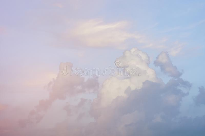 Soft focus, abstract texture pattern colorful sky and clouds naturally, bright colors with gradients of beautiful pastel shades.  royalty free stock photos